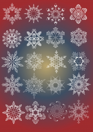 rime: Decorative Snowflakes set - winter series clip-art