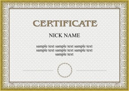 certificato, un diploma per la stampa