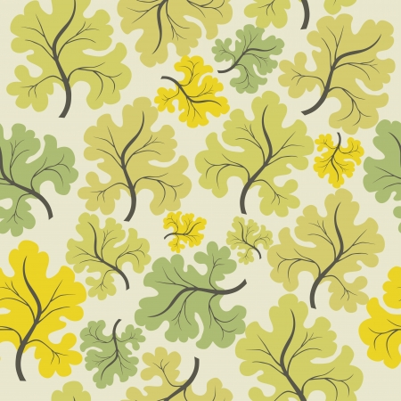 A seamless pattern with leaf,autumn leaf background Vector