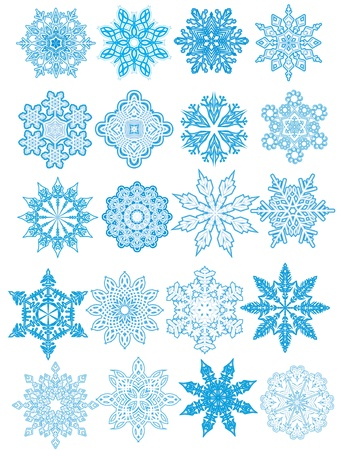 Decorative  Snowflakes set Stock Vector - 16409023