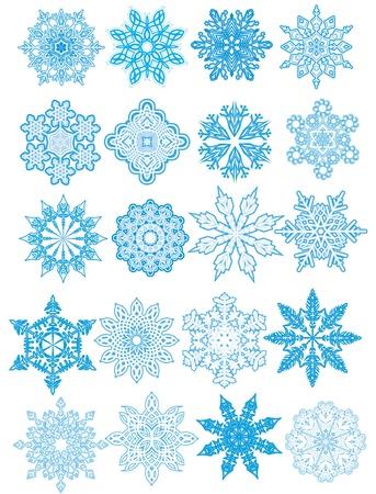 Decorative  Snowflakes set Stock Vector - 16409023
