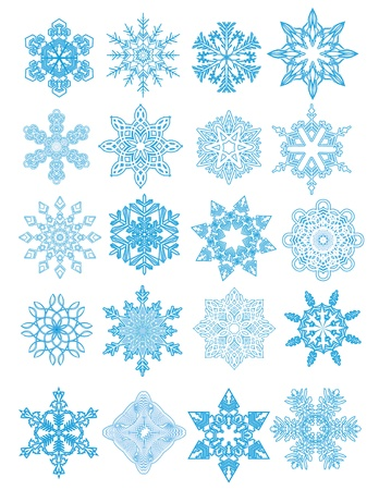 Decorative  Snowflakes set Stock Vector - 16409026
