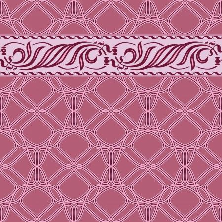 baroque border: seamless wallpaper Illustration