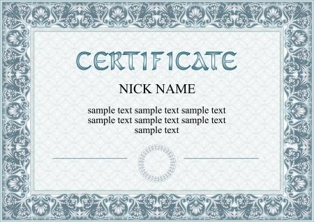 certificate, diploma for print Stock Vector - 17479667