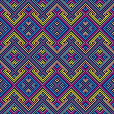 Résumé ethnique Seamless motif géométrique Vector Illustration Banque d'images - 20748839