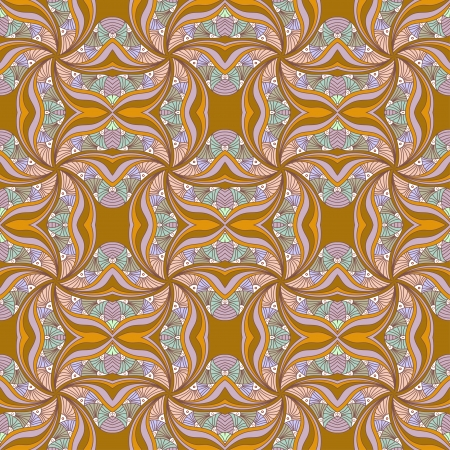 Seamless texture with ornate flowers and leaf