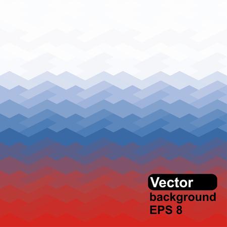 russian flag: Russian flag of geometric shapes  Vector illustration  Illustration