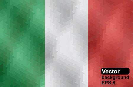 bandera de italia: Indicador italiano hecho de formas geom�tricas ilustraci�n vectorial