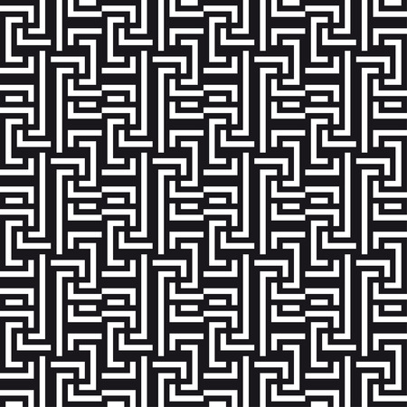 An elegant black and white, vector pattern  Vector