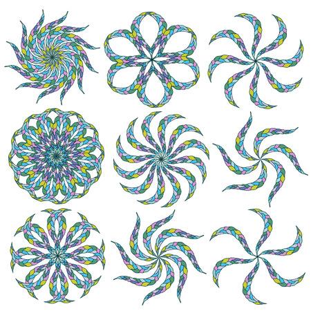 Ornamental round lace  Illustration