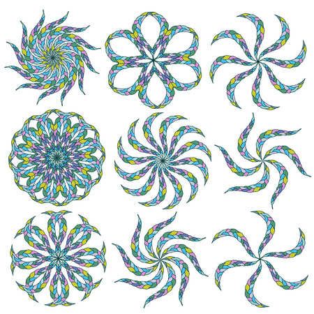 hexagram: Ornamental round lace  Illustration