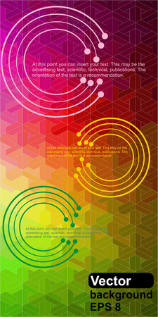 Abstract background of digital technologies Illustration