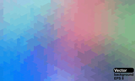 Retro pattern of geometric shapes. Colorful mosaic backdrop.