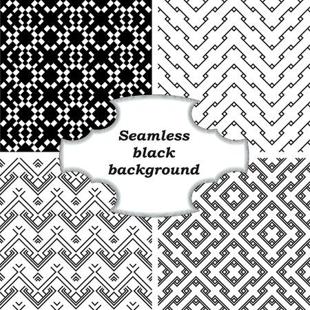 Ensemble de motifs en noir et blanc Banque d'images - 31043617