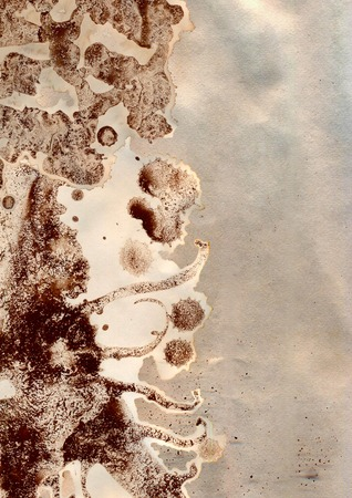 Texture - a sheet paper with drops of coffee Stock Photo
