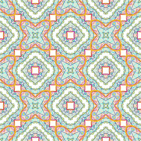 Colorful seamless pattern - abstract flowers  Illustration