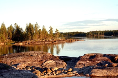Beautiful landscape in Karelia  Stock Photo