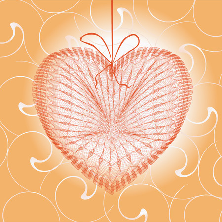 Greeting cards with heart shape  Illustration