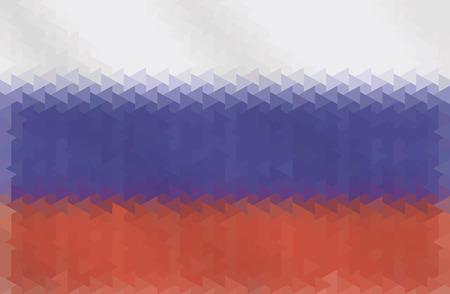 russian flag: Russian flag of geometric shapes.