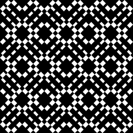 Abstract geometric seamless pattern. Black and white style pattern with rhombus and lines.  photo