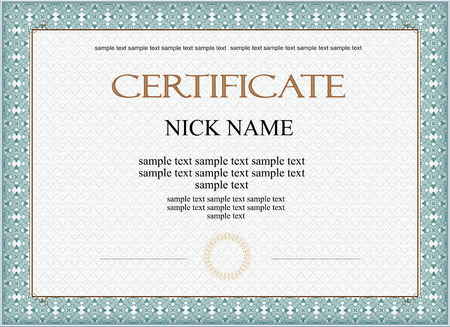 certificate, diploma for print Vector