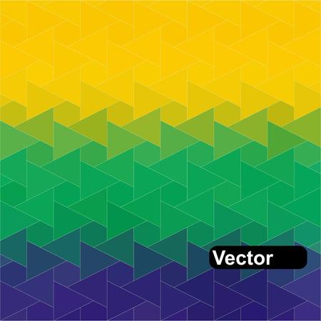 Brazil Flag of geometric shapes.