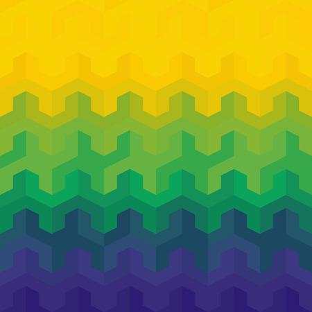 Brazil Flag of geometric shapes. Stock Photo