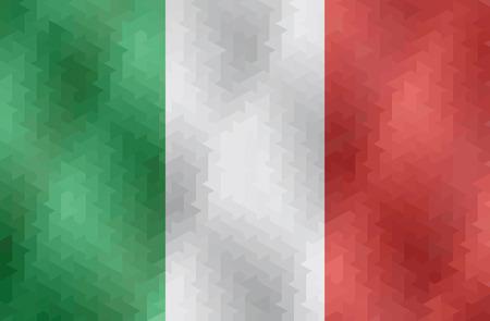 Italian flag made of geometric shapes