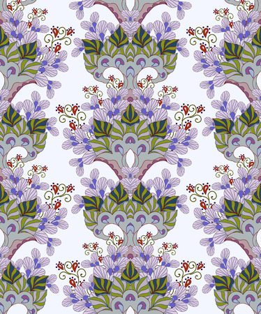 Abstract background with flowers, fashion seamless pattern. Illustration