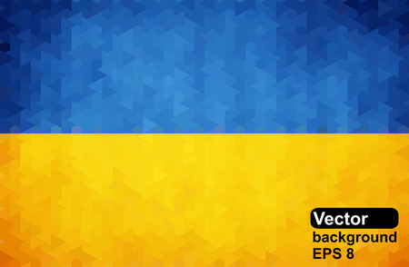 ukrainian flag: Ukrainian flag of geometric shapes. Vector illustration.