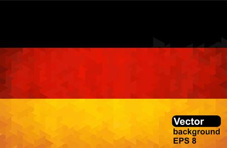 German flag of geometric shapes. Vector illustration.
