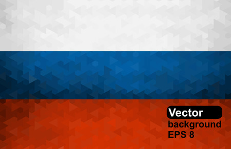 russian flag: Russian flag of geometric shapes. Vector illustration.