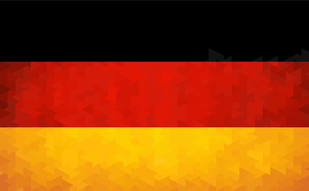 German flag made of geometric shapes