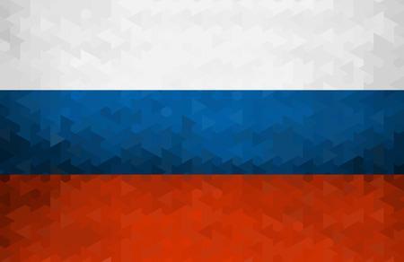Russian flag of geometric shapes