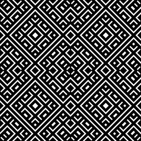 An elegant black and white, vector pattern Illustration
