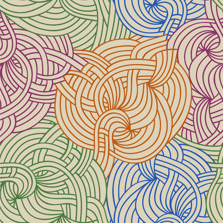 Abstract wavy background. Vector hand-drawn texture.