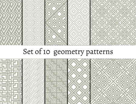 etnic: Set of ornamental patterns for backgrounds and textures