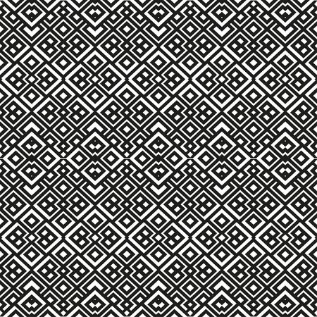 Un élégant modèle vectoriel en noir et blanc, les carreaux de carrés géométriques