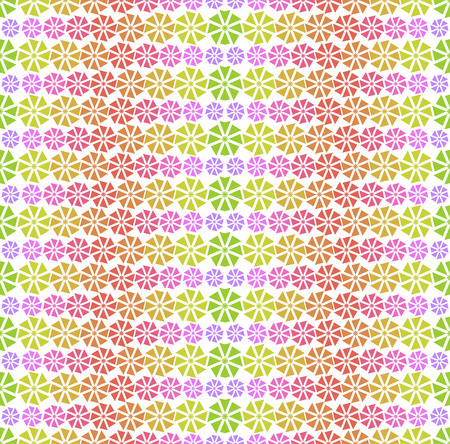 abstract flowers: Colorful pattern - abstract flowers