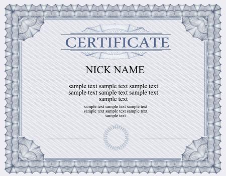 for print: certificate diploma for print Illustration