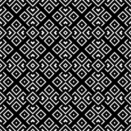 Geometrical pattern black and white color