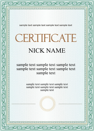 Vector pattern that is used in certificate and diplomas Çizim