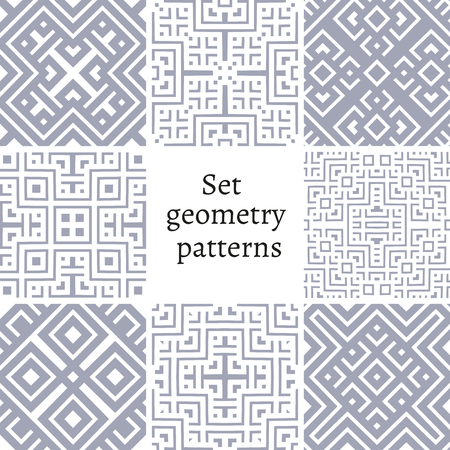 Set of ornamental patterns for backgrounds and textures