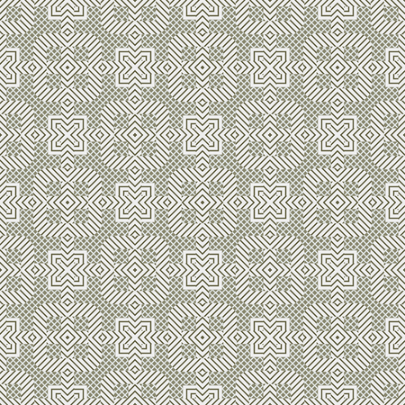 Abstract seamless background. Modern stylish texture. Repeating geometric tiles with mosaic. Illustration