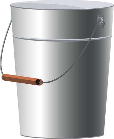 bucket vector illustration, garden tool