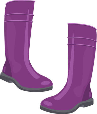 rubber boots for gardeners and autumn walk