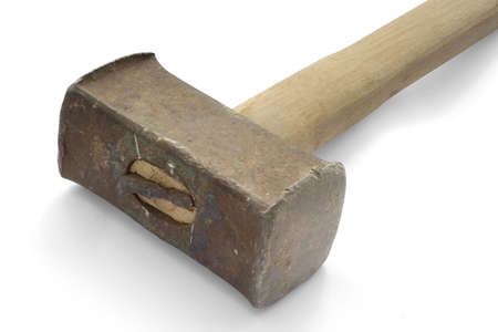 affix: Heavy hammer on white background.