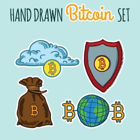 Hand Drawn Bitcoin Set