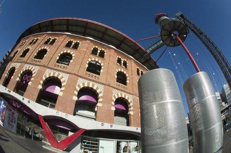 espanya: Arena building at Espanya square in Barcelona