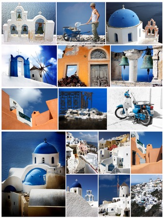 merged: Highlights of Santorini merged in Photo Collage